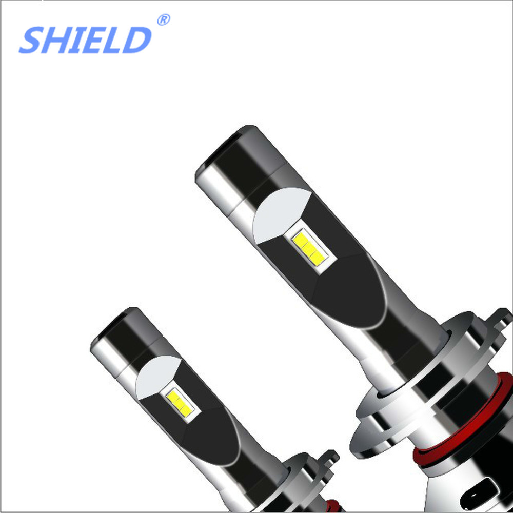 PAMPSEE H4 LED Auto Lamp H1 H7 H3 HB2 Hi/Lo DIY Led Car Headlight Bulb COB Chip 40W 6000LM RGB Beam Fog Light Bluetooth Control - 3