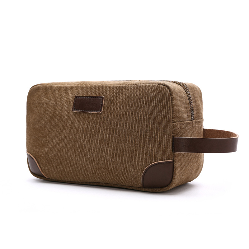 b0a55402ac92 US $11.9 13% OFF|Canvas Travel Bag Toiletry Organizer Shaving Dopp Kit  Travel Cosmetic Bag Makeup Men Handbag Casual Zipper Wash Cases Women-in ...
