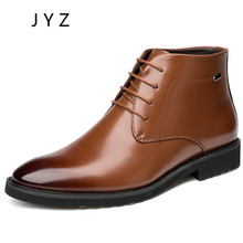 Fashion New Mens Ankle Boots Winter Keep Warm Fur Shoes Lace Up Dress Man men0039