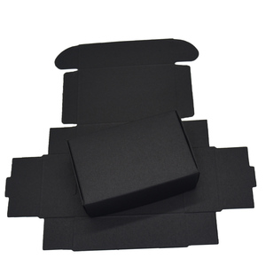 Image 4 - 9.4x6.2x3cm Black Cardboard Paper Boxes for Wedding Gift Card Package Kraft Paper Box Birthday Candy Crafts Wrapping Box 50PCS