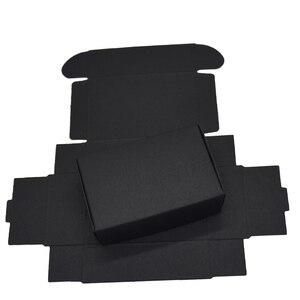 Image 4 - 9.4x6.2x3cm czarne kartonowe pudełka papierowe na ślub karta podarunkowa pakiet Kraft Paper Box cukierki urodzinowe rzemiosło opakowanie Box 50 sztuk