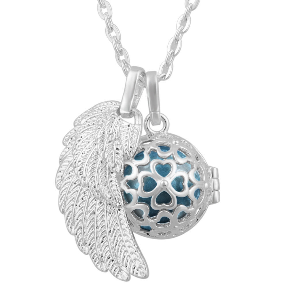 Angel caller wing pregnancy ball harmony bola pendant necklace baby angel caller wing pregnancy ball harmony bola pendant necklace baby chime bell mexican bola necklaces in pendants from jewelry accessories on mozeypictures Choice Image