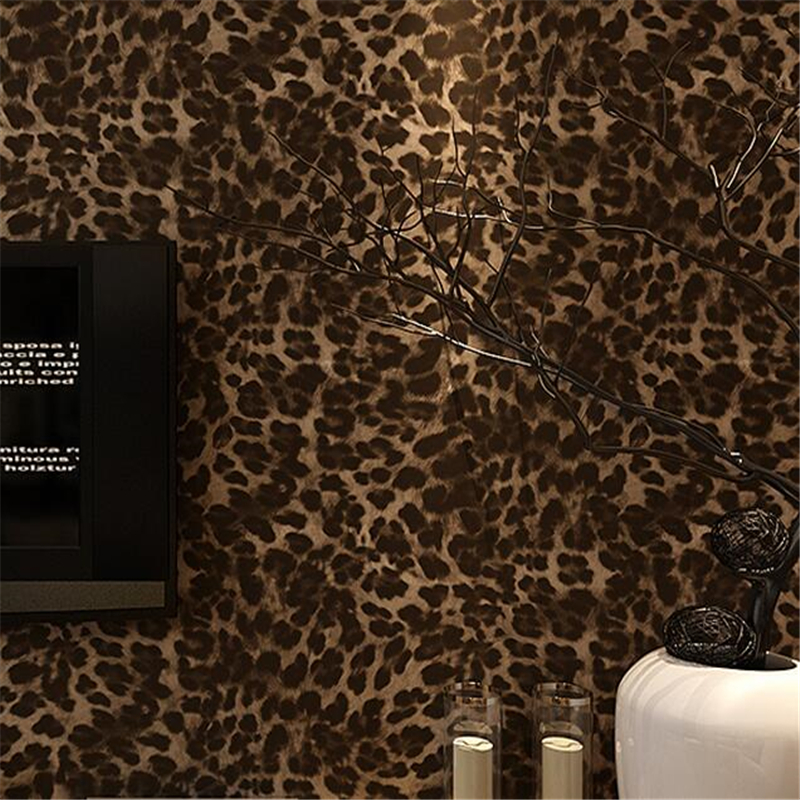 ФОТО beibehang papel de parede Modern personality trend wallpaper living room bedroom clothing store decoration Leopard wall paper