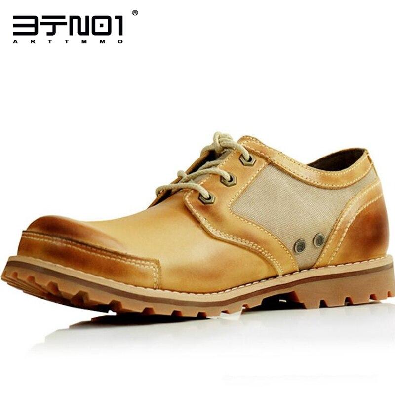 Angleterre Style Rétro Mens Véritable Cuir à Lacets Bout Rond Oxford Casual Chukkas Chaussures De Sécurité au Travail Chaussures Homme