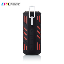 Epicfeat Беспроводной Bluetooth Водонепроницаемый Динамик с Мощность Bank фонарик Открытый USB Портативный колонки для велосипедов ПК телефон AJ-96