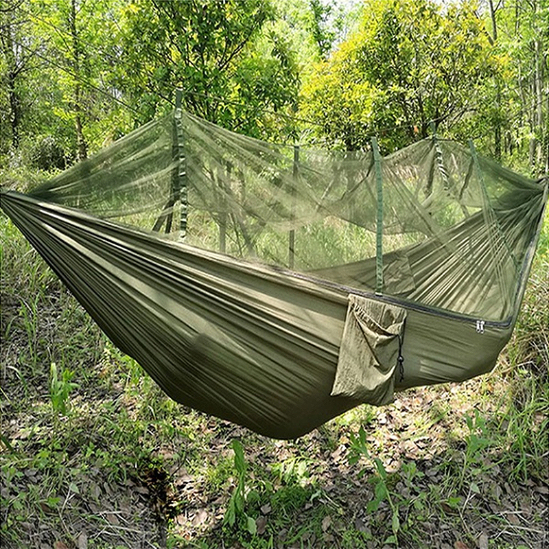 Fashion Parachute Fabric Hammock Double Person Portable Mosquito Net Hammock Outdoor Furniture Camping Travel Garden Swing Hamak fashion parachute fabric hammock double person portable mosquito net hammock outdoor furniture camping travel garden swing hamak