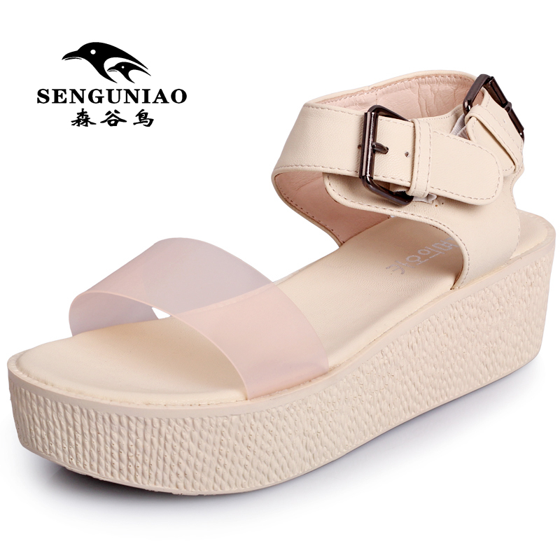 Online Shop Fashion platform sandals nude color jelly shoes ...