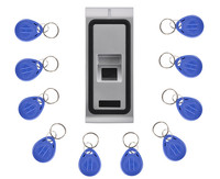 125KHZ RFID Card Waterproof Metal Case Fingerprint Access Control System F102 With Remote Control 20Pcs Key