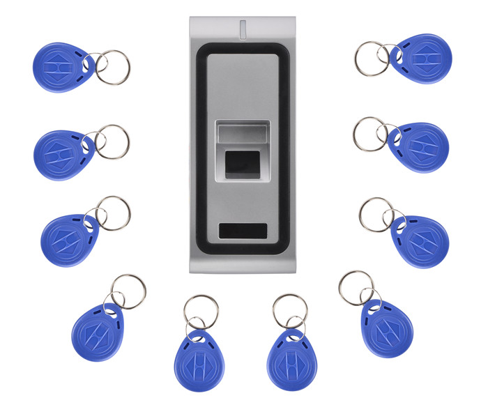 125KHZ RFID Card Waterproof Metal Case Fingerprint Access Control System F102 With Remote Control+10Pcs Key Card