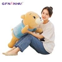 1pc 75cm kawaii Dressing Teddy Bear Plush Pillow Stuffed Toys Lovely Cartoon Bears for Children Baby Valentine's Gift