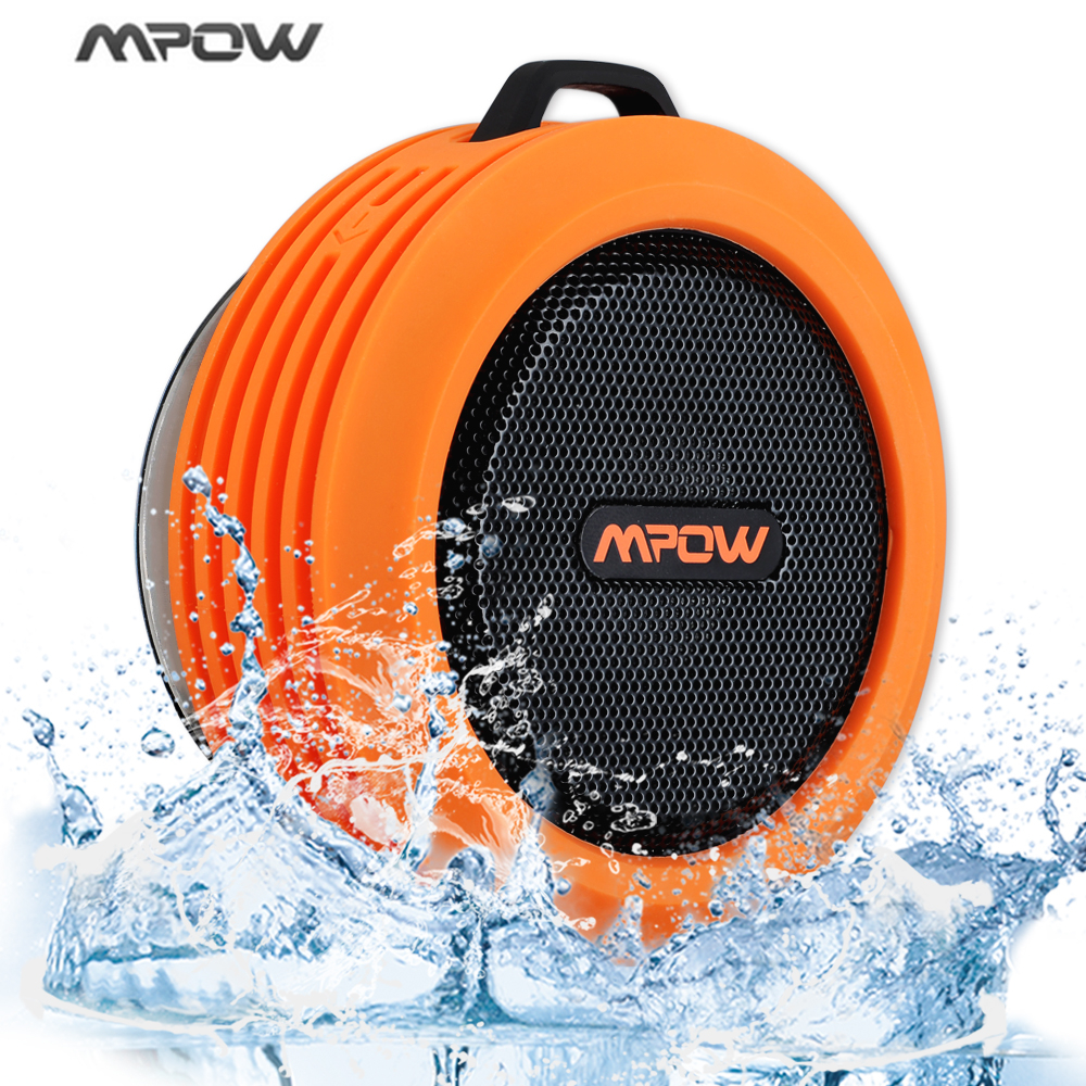 Mpow Portable Wireless Bluetooth 3.0 Speaker Waterproof Speaker With  Powerful Driver/built In Mic Suction Speaker Outdoor