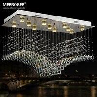 Rechthoek Kristallen Plafondlamp Armatuur Plafond K9 Kristallen Lamp lampara techo lustres de sala voor woonkamer gratis verzending