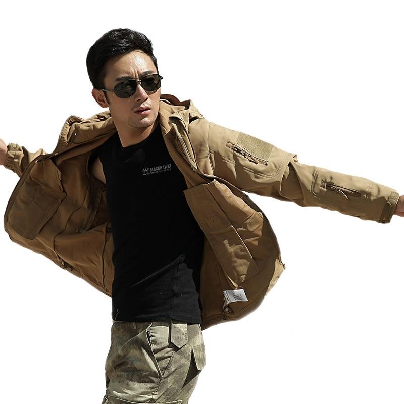 Mens tactique militaire camouflage Softshell vestes décontractées - Vêtements pour hommes - Photo 2