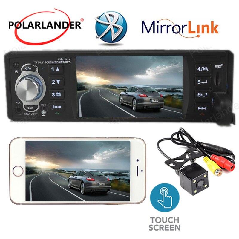 Autoradio Bluetooth MP5 Mp5 lecteur doigt écran tactile lien miroir audio stéréo 4 pouces 1 din radio cassette lecteur Autoradio RDS - 2