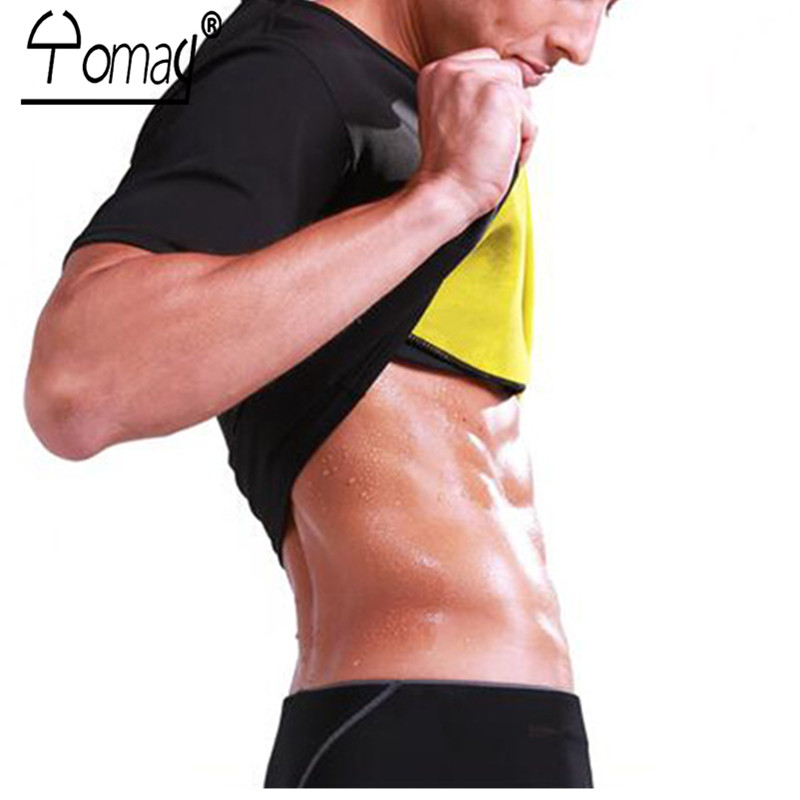 Men Neoprene Bodyshaper Black Slimming Shirt Fitness Shapers Tops Men's Bodybuilding Intimates Clothing