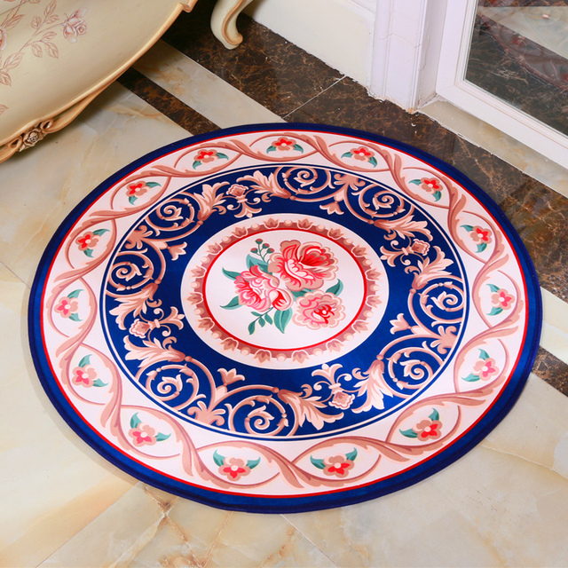 New Round Kitchen Mat Carpet Jacquard Pictures Of European Study Cloakroom  Bedroom Basket Chair Pad Computer