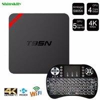 T95N-MINI MX Android 6.0 TV Kutusu Amlogic S905X 64 Bit Quad Core 4 K x 2 K H.265 2.4 GHz WiFi 1 GB + 8 GB Akıllı TV Kutusu KODI Medya oyuncu