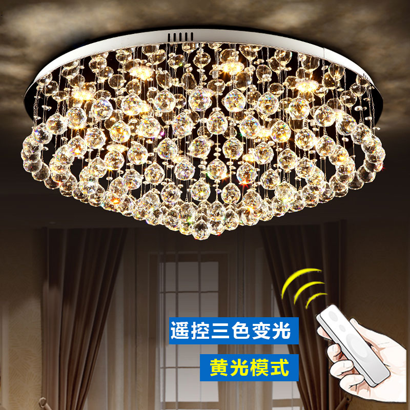 led crystal chandelier lamp light surface mounted lighting with remote control for bedroom living room| | |  - title=