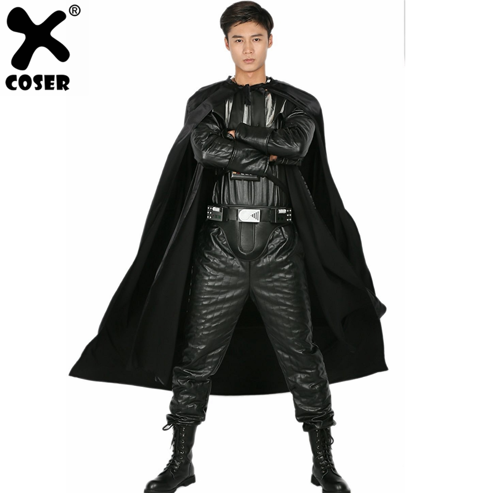 XCOSER Darth Vader Full Outfit Costume Halloween Festival Party Adult Men Cool Black Cosplay Costume Sets Top Quality Brand Sale