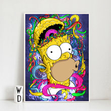 цены Homer Cartoon As A Zombie Funny Wallpaper Wall Art Canvas Posters Prints Painting Wall Pictures For Bedroom Home Decor Framework