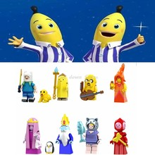 Legoing Duplo figures Adventure Time Finn Banana guard Jack Flame Princess Model Building Blocks Toys for Children Legoing toys(China)