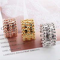 925 Sterling Silver Fashion New Adjustable Multi changing Magic Ring Personality Creative Ring into Bracele t for Women
