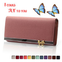 Free Shipping Women Wallets Soft PU Leather Bag Bowknot Coin Purse Candy Color Purses Female Handbags