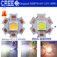 CREE XHP70 6500K Cool White 5000K Neutral White 3000K Warm White LED Emitter 6V With 20mm