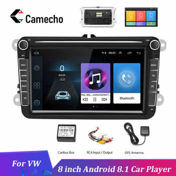 Camecho 2Din Car Radio Android 8.1 Car MP5 Multimedia Video Player GPS Auto Audio Stereo 8'' For Seat/Skoda/Passat/Golf/Polo - DISCOUNT ITEM  30% OFF All Category