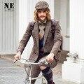EARL JOEL alta qualidade 2015 homens 50% lã super fino outono inverno jovem casual wedding negócios retro ternos blazers 3XL 2XL