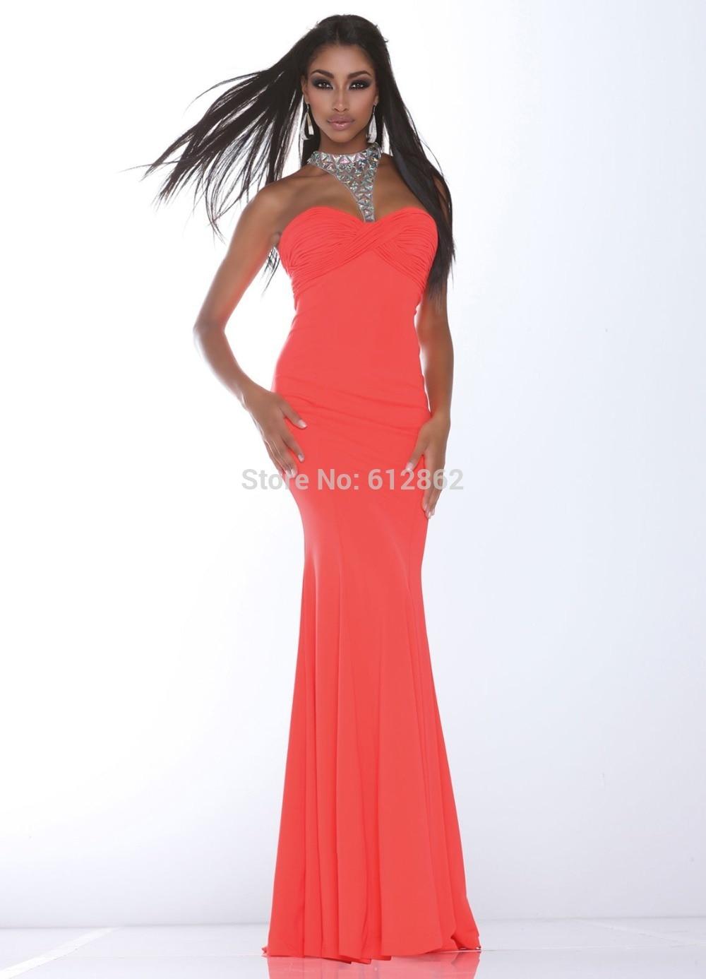 bbe362cd3 Sexy Espalda Abierta Cristales Gasa Vestidos de Baile Apretado Y Largo en  Vestidos de baile de Bodas y eventos en AliExpress.com