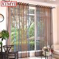 Тюль шторы для гостиной окна лечения коричневые шторы для спальни для детей voile занавески