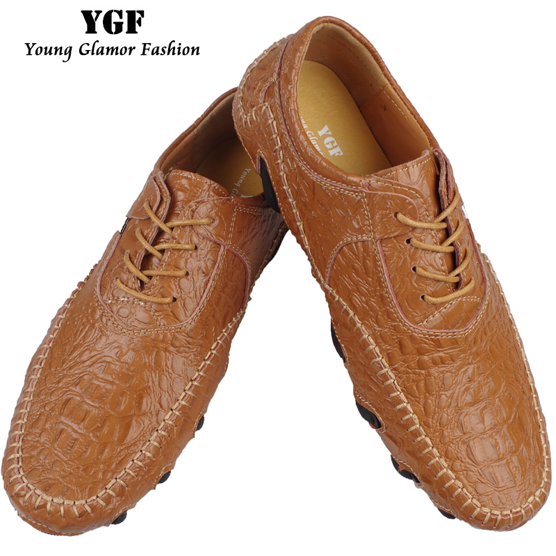 YGF Mens Genuine Leather Loafers Slip on Casual Shoes Fashion Breathable Mens Footwear Leather Moccasins Mens Driving Shoes dxkzmcm genuine leather fashion mens casual shoes cowhide driving moccasins handmade slip on loafers