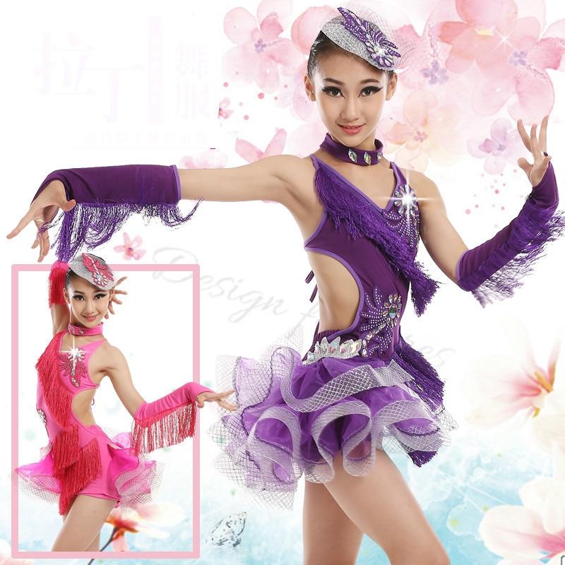 Latin Dress Kids Fringe Ballroom Tango Samba Salsa rumba Dance Competition Dresses Sale Dance Wear Latin Dance Dress For Girls