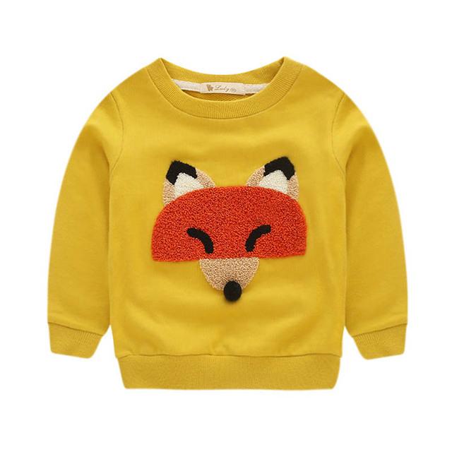 2016 Nova Moda Infantil Roupas de Algodão Camisola Roupa Dos Desenhos Animados Para 4-8 Idades Meninos Meninas Camisola Outono Inverno Quente roupas