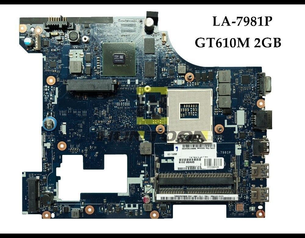 High quality for Lenovo Ideapad G580 laptop Motherboard QIWG5-G6-G9 LA-7981P HM76 PGA989 DDR3 GT610M 2GB 100% Fully Tested high quality suitable for lenovo y500 laptop motherboard qiqy6 la 8692p pga989 gt650m 2gb ddr3 hm76 package well