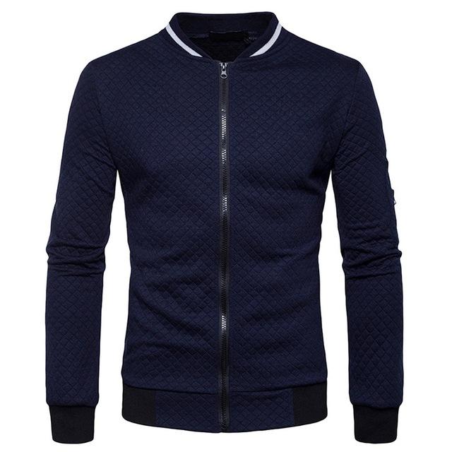 Bomber Fit Argyle Zipper Jacket