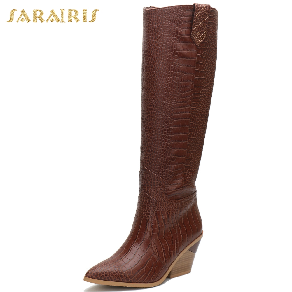 2019 plus Size 33-46 Fashion Dropship comfortable chunky Heels knee high Boots Women Shoes Slip On Western boots Shoes Woman2019 plus Size 33-46 Fashion Dropship comfortable chunky Heels knee high Boots Women Shoes Slip On Western boots Shoes Woman