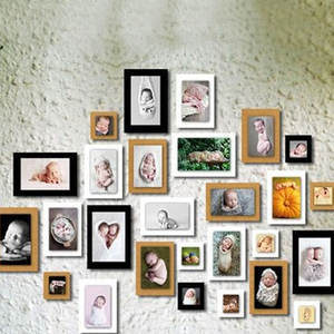 Photo Picture Vintage Frame Wedding-Gift Home-Decor for 3-Colors Wall-Photo-Frame 7pcs/Lot