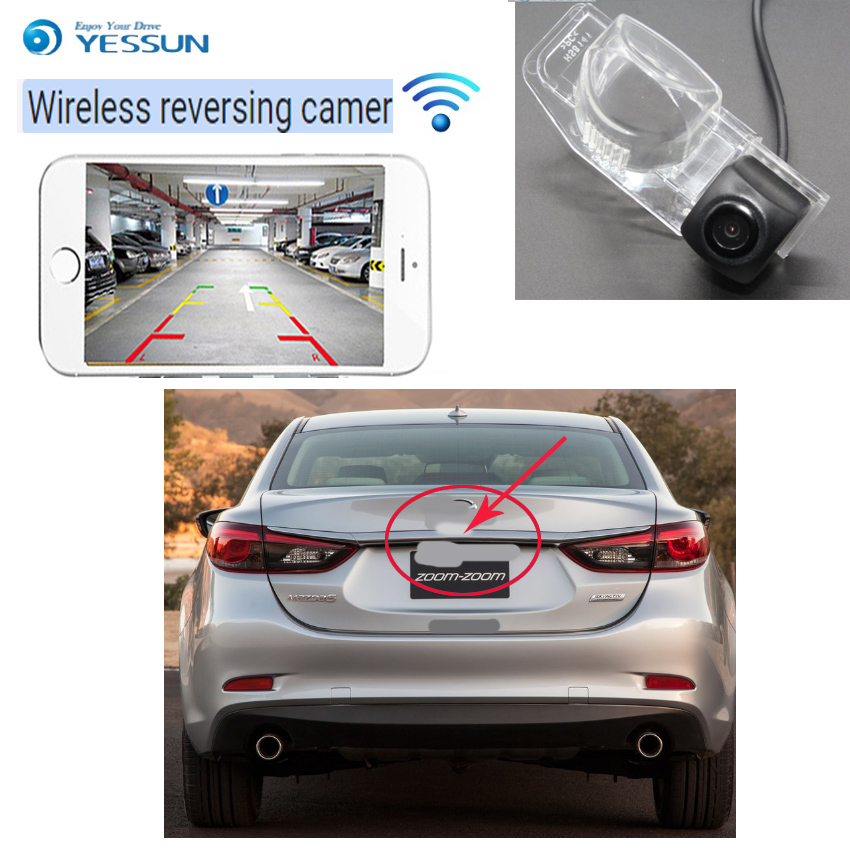 YESSUN car Reverse hd wireless reverse camera For Mazda 8 MPV M8 MK3 LY 2006~2016 CCD Night Vision Backup Camera Reverse Camera