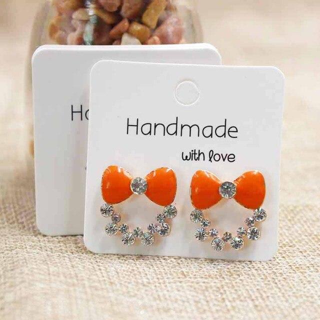 100pcs Diy Handmade Earring Card Jewelry Package Stud Display 5 5cm Custom Logo