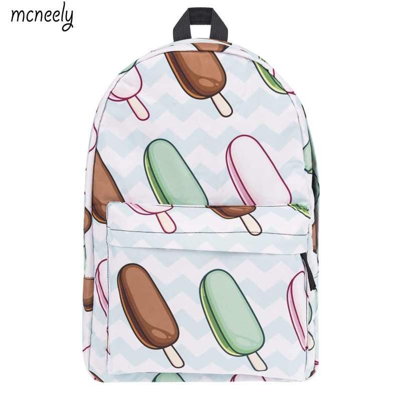 c62e9a30c152 Милый рюкзак с рисунком мороженого для мальчиков и девочек, школьная сумка,  рюкзак с принтом
