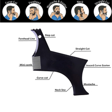 2019 Hot 1PC Beard Comb Beard Shaping Tool Beard Styling Template Stencil For Men Lightweight And Flexible Fits Tool