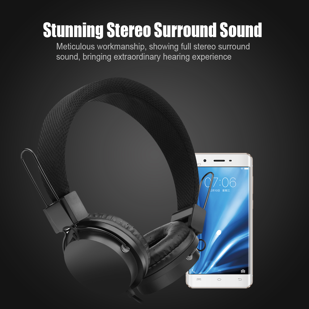 Headphones with Microphone Inline Control for Travel Running Sports Headset Gaming Hifi Audio for Kids Men Woman Strong Bass