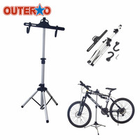 Newest Heavy Duty Aluminium Alloy Bicycle Stand Cycling Rack Holder Maintenance Tool MTB Bike Home Storage