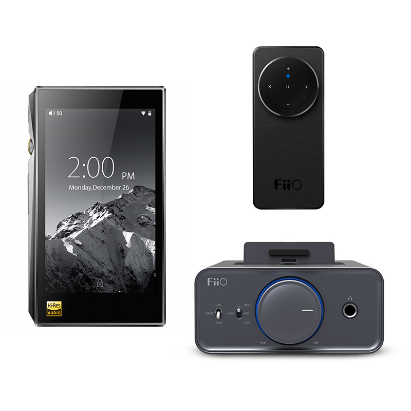 Bundle Sale of FiiO Portable Hi-Res Music Player X5 MKIII With Headphone Amplifier K5 bundle sale of fiio android based music player x7 ii with balance am3a with fiio triple driver hybrid in ear headphone f9