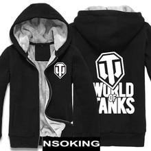 Winter Jackets and Coat WORLD OF TANKS hoodie Anime Game Thicken Warm Men Sweatshirts
