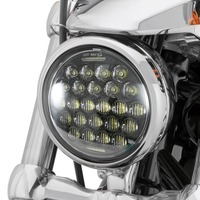2019 New style Chrome 5.75 Inch LED Headlight 5 3/4 led DRL 50W motorbike headlights for Harley Sportster 883 XL883 FXCW