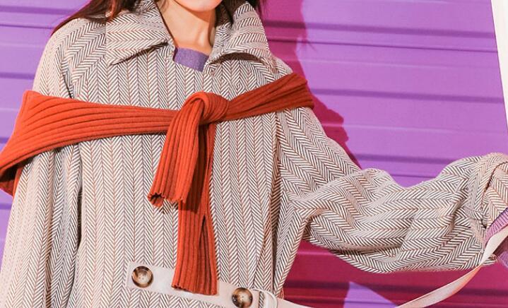 Populaire Femmes Kaki Rétro Moyen Long Mode Nouvelle De Laine D'hiver xl Manteau 2019 S Chaude ZWTqaza