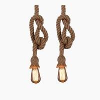Vintage Seil Pendelleuchte Lampe Loft Kreative Persönlichkeit Industrielle Lampe Edison-birne American Style Für Wohnzimmer